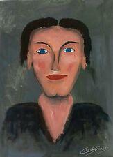 """Dipinto ad olio ritratto su tela di """"Mary"""" firmato artista Colin statter"""
