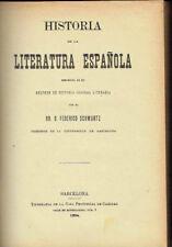 Historia de la Literatura Española. Federico Schwartz.