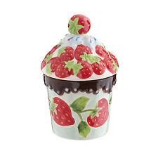 Clayre & Eef Bonboniere DEKO Dose Erdbeer Keramik Shabby Vintage