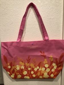 Bath & Body Works 2021 MOTHER'S DAY Reusable TOTE 🌷 Bag Only PRETTY PINK DESIGN