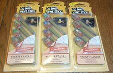 NEW YANKEE CANDLE SUN & SAND AIR FRESHENER VENT STICKS 3 Pcks 12 Total