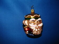 Nutcracker Ornament Short and Stout Glass Old World Christmas 04424 23
