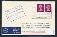 62413) LH  FF Amsterdam - Los Angeles USA 2.4.69, Brief GB/UK Feldpost BFBO