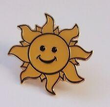 SMILEY SUN ENAMEL LAPEL PIN BADGE