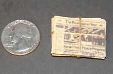 Dollhouse Miniature Vintage Newspaper Stack 1:12 Inch scale D20 Dollys Gallery