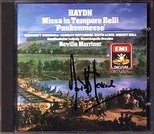 Sir Neville MARRINER Signiert HAYDN Paukenmesse MARSHALL WATKINSON LEWIS HOLL CD