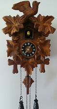 Antique Retro Style Carved Timber Cuckoo Clock Wall Clock Singing Bird RR $220