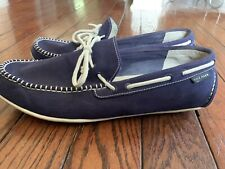 Cole Haan Navy Blue Boat Shoes Driving Loafer 13M
