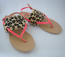 GIRLS  SANDALS SIZE ANIMAL PRINT PINK STRAPS SIZE 5
