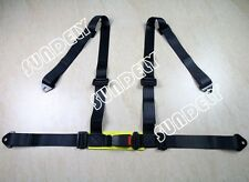 Hi-Q Car Vehicle 3 4 Point Racing Safety Harness Strap Seat Belt Bolt In Black
