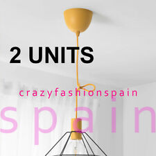 "IKEA 2 UNITS X SUNNEBY Cord set, dark yellow textile, 1.8 m // 5 ' 11 """