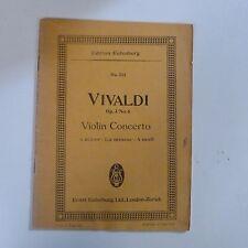 MINI Tasca SCORE VIVALDI CONCERTO PER VIOLINO OP 3/6 un minore, EULENBURG 753