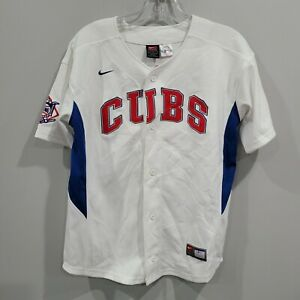 Rare VTG Nike Chicago Cubs Greg Maddux 31 Throwback Jersey Youth L Sewn