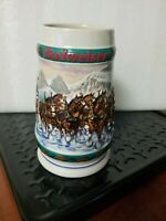1993 Anheuser-Busch Budweiser Holiday Beer Stein, Collectors Series