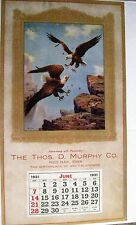 "1931 Sample Advertising Calendars Titled ""A Royal Battle"" w/ Eagles Fighting"