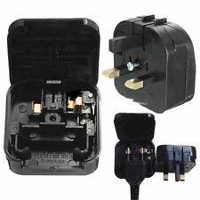 European Euro EU 2 Pin to UK 3 Pin Plug Adapter Main Power Travel Converter Fuse