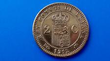 MONEDA DE ESPAÑA ALFONSO XIII, 2 CÉNTIMO 1912 ESTRELLA *12  AÑO: 1912