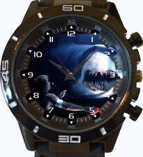 Deep Blue Sea Man Eater Squalo Nuovo Orologio Da Polso VELOCE UK Venditore