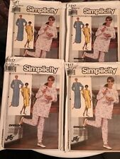 Simplicity 7817 Pajamas Night Gown Shirt sewing pattern Sizes 8 10 18 22 CHOICE