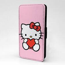 Funda para Estuche Abatible Para Teléfono Móvil Hello Kitty Amor Corazón-T1460