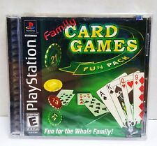 Family Card Games Fun Pack (Sony PlayStation 1, 2003) PS1 New Sealed + Free Ship