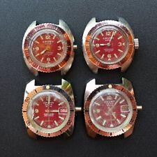 CAUNY 210m Red Diver Lady Lot Vintage 1960s Watch Reloj Montre Orologio Uhr