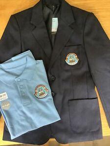The Endeavour Co-operative Academy Boys Navy School Uniform Blazer PoloShirt NEW