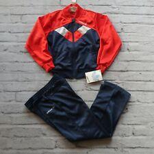 New Deadstock 80s Adidas Track Suit Set Kids Size L Vtg