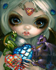 Jasmine Becket-Griffith art print valentine's day fairy SIGNED Dragon Hearts