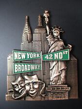 New York Metall Magnet,World Trade,Freiheitsstatue,Empire,Chrysler,Neu.
