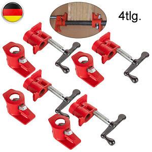 4stk.3/4 Rohr-Schraubzwinge Zwinge Rot Bessey Schraubstock Für Holzbearbeitung