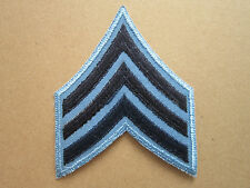 Sergeant Blue Light Blue Rank Insignia Military Woven Cloth Patch Badge (L1K)