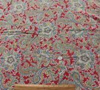 """Vintage American Detailed Printed Colorful Floral Paisley Cotton Fabric~26""""X34"""""""