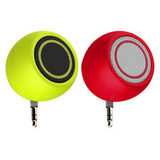 2x New Portable Mini Speaker 3W 3.5mm Audio Jack for Mobile Phone Green+Red
