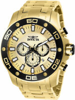 Invicta Men's Pro Diver Quartz Chronograph 100m Gold-Plated S. Steel Watch 26079
