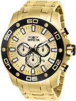 Invicta Men's Pro Diver Quartz Chronograph 100m Gold-Plated S. Steel Watch 26079