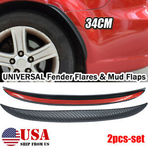 Universal Car Mud Flap Fender Flare Wheel Arches Flares Extension Wide protector