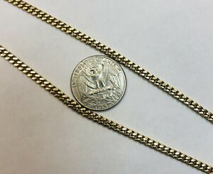 """14K Solid Yellow Gold Miami Cuban Link Chain 20"""""""