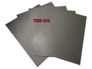 230x280mm Wet and Dry Sandpaper Abrasive Waterproof 7000 Grit 5 SHEETS Superfine