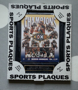 Vintage Denver Broncos Plaque New In Package Super Bowl Champions Ready To Hang