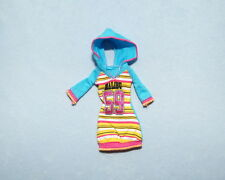 MALIBU Sporty Chick Blue Yellow Pink Genuine BARBIE 3/4 Sleeve Hoodie Dress