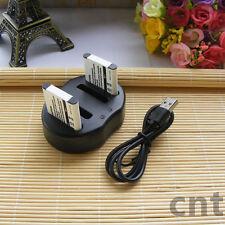 DUAL USB Charger + 2x BATTERY for Olympus Battery Li-50B PENTAX D-Li92