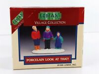 Lemax Village Porcelain Look At That, Looking Up 1995 Accessory 53150