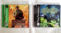 Syphon Filter + Medal of Honor Games (Playstation PS1) Complete CIB Tested Works