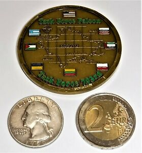 Challenge Coin - US Army - Task Force Falcon - 793rd MP - Kosovo - Serial #510