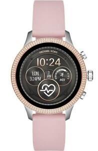 Michael Kors Access Glitz Silver & Rose Gold Pink Touchscreen SmartWatch MKT5055