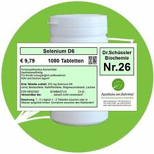 Schüßler-Salz Nr.26 Selenium D6 1000 Tabl. PZN 08003920