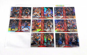 Lot of (8) 1999-00 Finest Double Feature Basketball Refractors