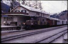 35mm slide+© RhB Rhätische Bahn Ge 6/6 I 411 Bergün Switzerland 1986 original