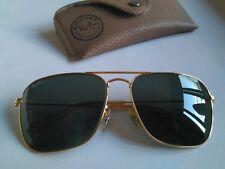Ray Ban Vintage B&L  CARAVAN Aviator. Gold Plated. Green  58-16. USA. Con Funda